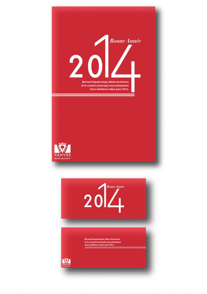 Création d'affiches et de cartes de voeux pour la mairie de Vanves